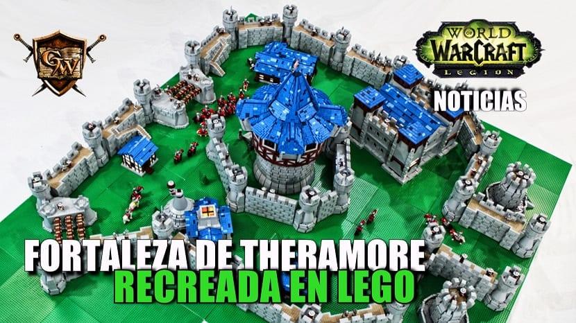 La Fortaleza de Theramore recreada con piezas LEGO