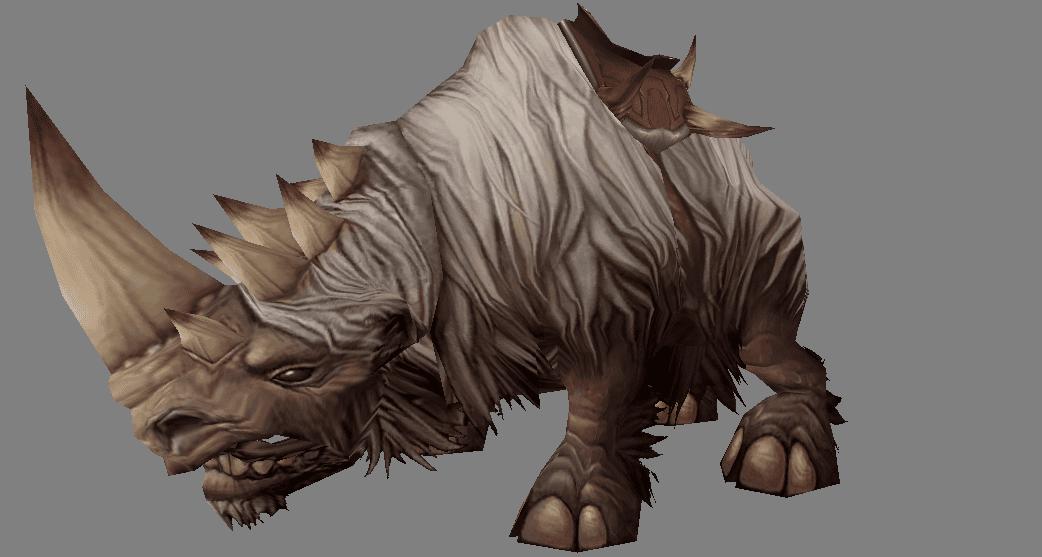 Rinoceronte Blanco Lanudo