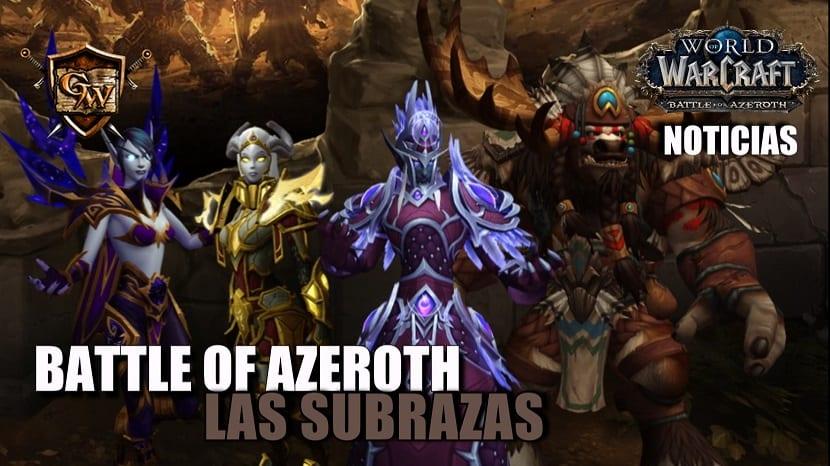 Battle for Azeroth - Las subrazas
