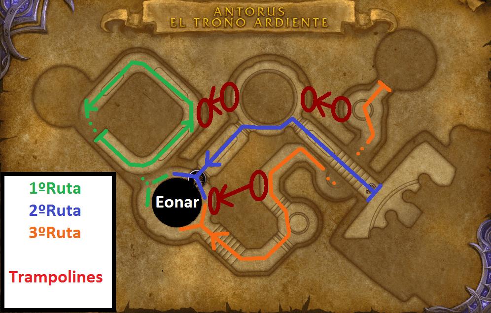 Mapa de las rutas Eonar