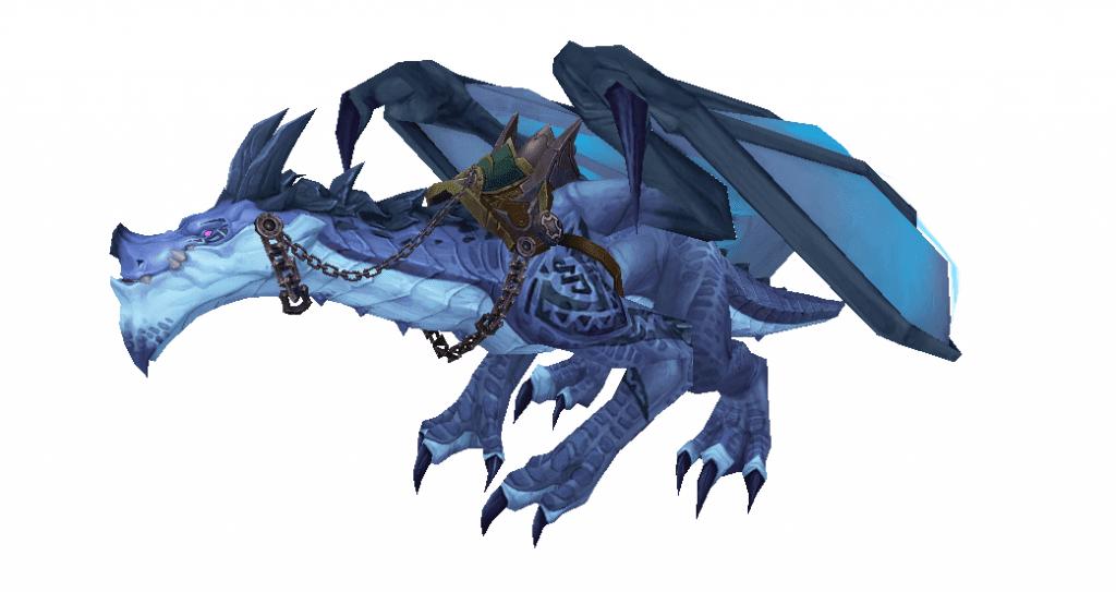 Dragón de tormenta azul