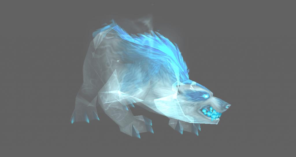 Spectral Bear hunter pet