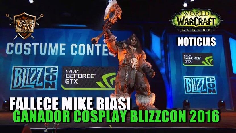 Fallece Mike Biasi, ganador cosplay BlizzCon 2016