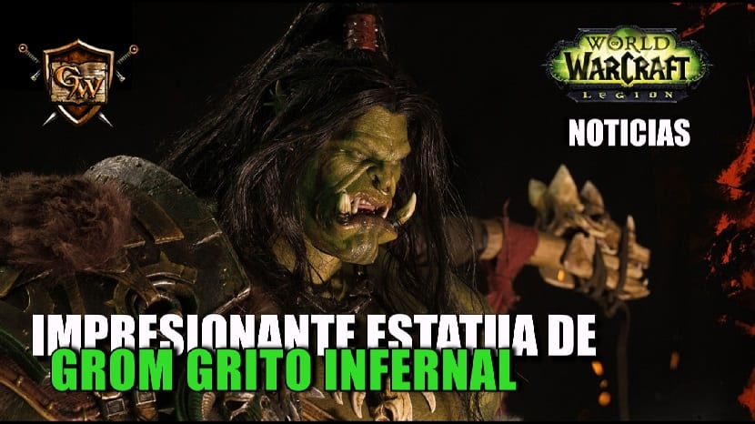 estatua de grom grito infernal