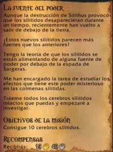 misiones de silithus