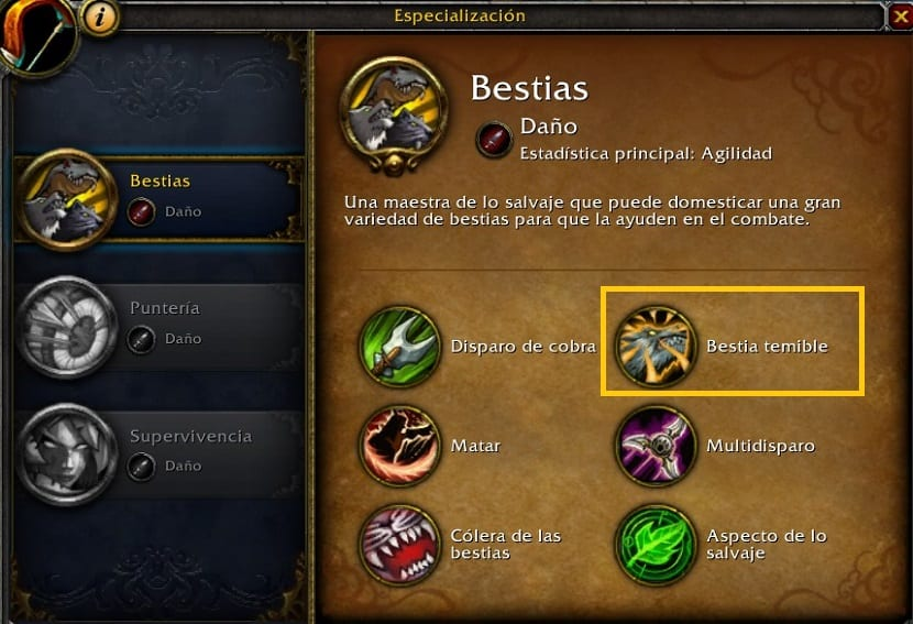 cazador bestias en battle for azeroth