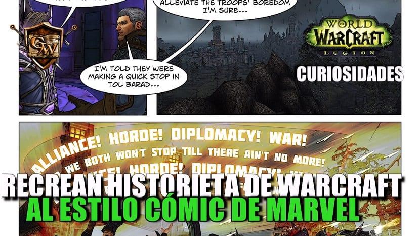 Recrean una historieta de Warcraft al estilo de cómic de Marvel