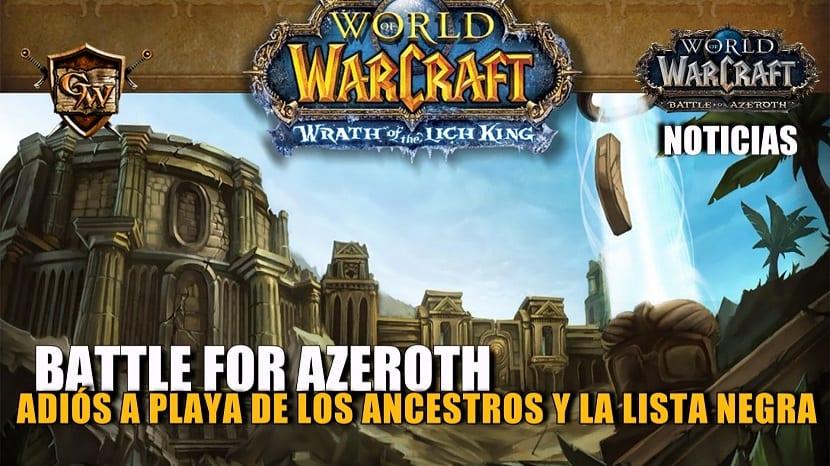 Playa de los Ancestros y vetar BGs serán eliminados en Battle for Azeroth