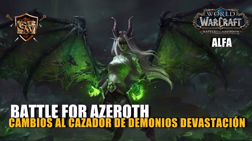 Cazador de demonios Devastación en Battle for Azeroth