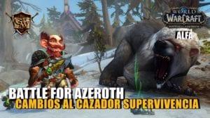 cazador supervivencia en battle for azeroth
