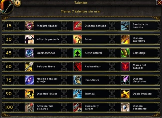 cazador punteria en battle for azeroth