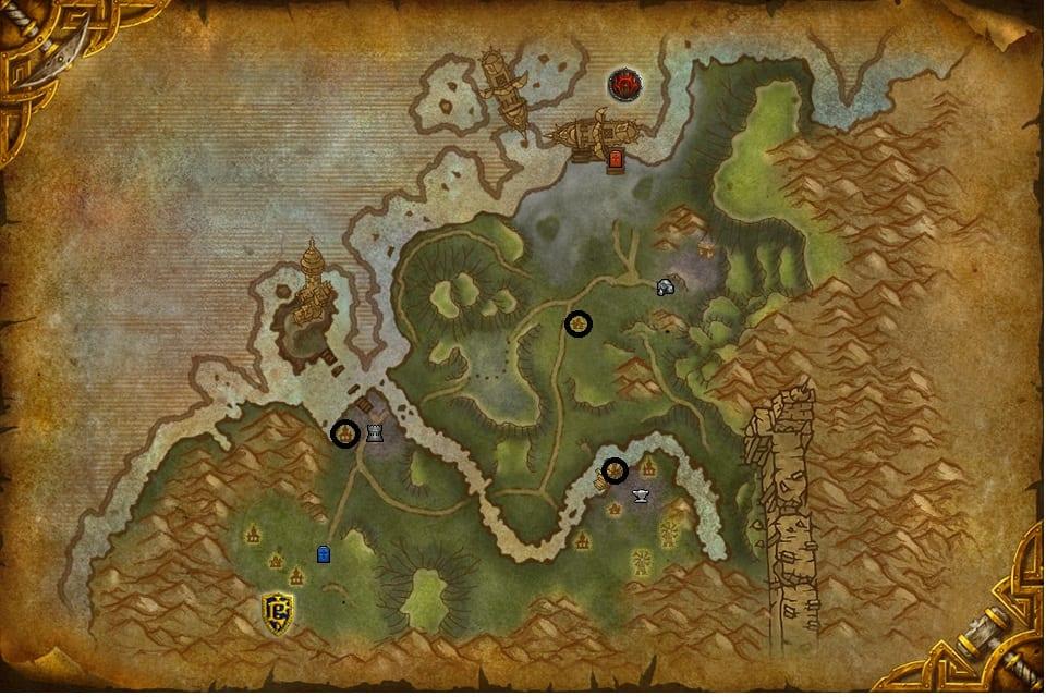 batalla por gilneas mapa buffs