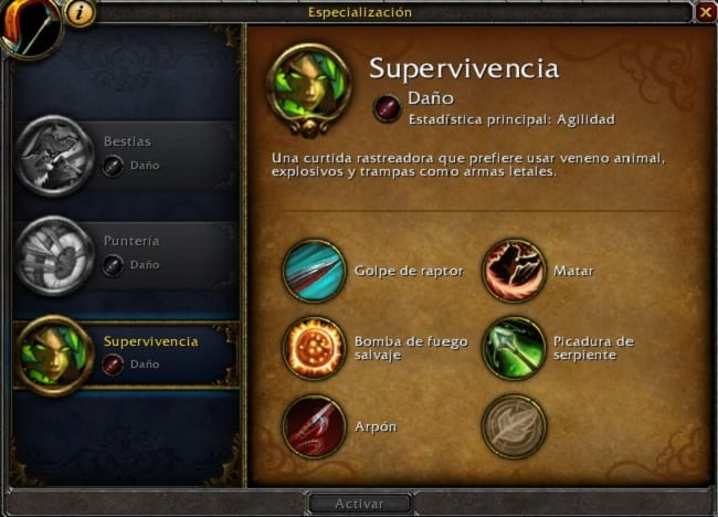 cazador supervivencia en battle for azeroth
