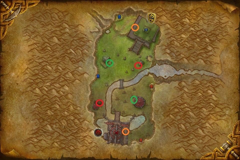 mapa cumbres gemelas consumibles