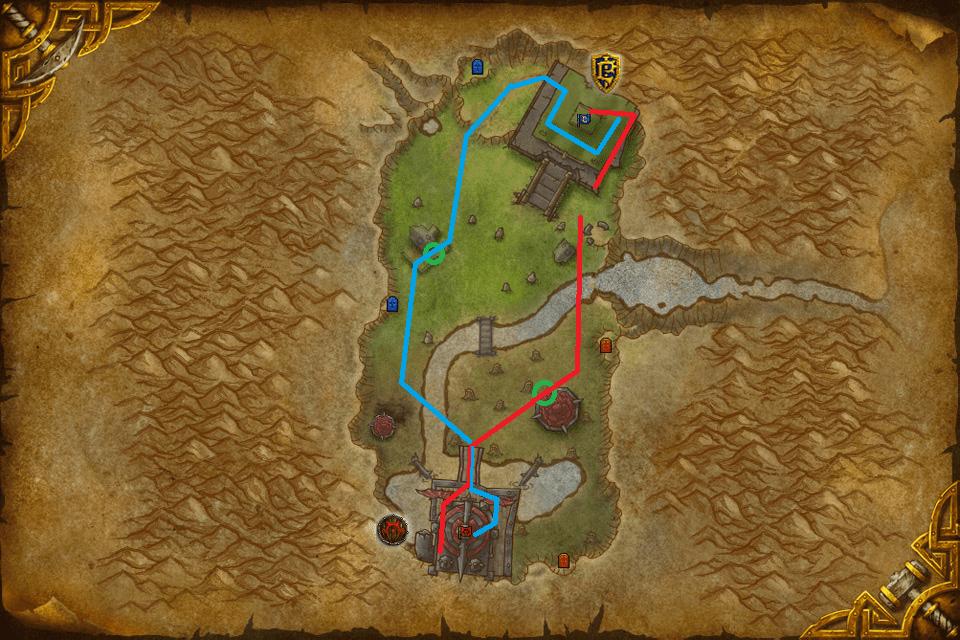 mapa cumbres gemelas rutas