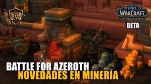 Minería en Battle for Azeroth