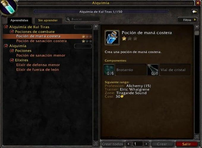 Alquimia en Battle for Azeroth