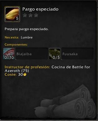 Cocina en Battle for Azeroth