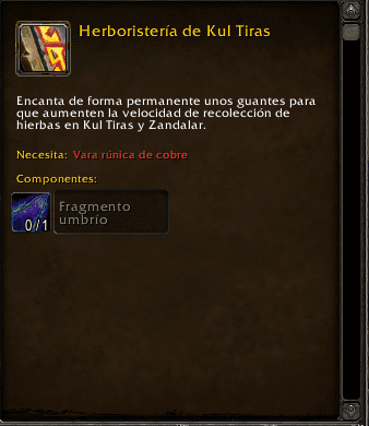 Encantamiento en Battle for Azeroth