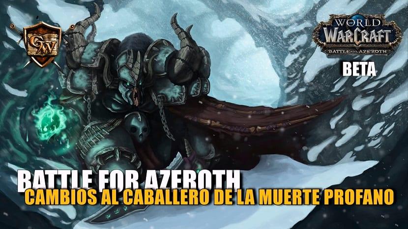 portada caballero de la muerte profano en battle for azeroth