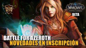 Inscripción en Battle for Azeroth