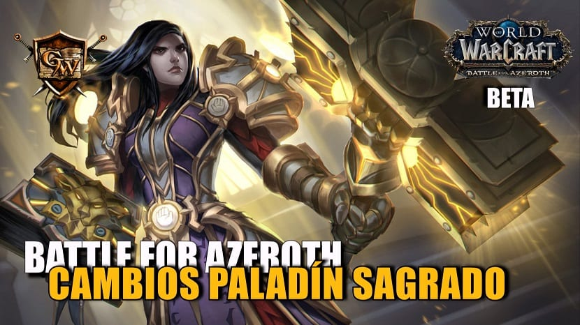 portada paladín sagrado en battle for azeroth