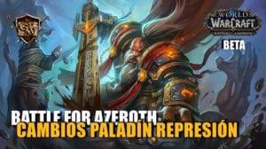 portada paladín reprensión en battle for azeroth