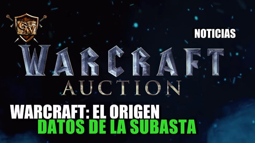 Datos de la subasta de artículos de Warcraft: el origen