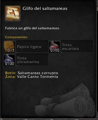 Inscripción en Battle for Azeroth