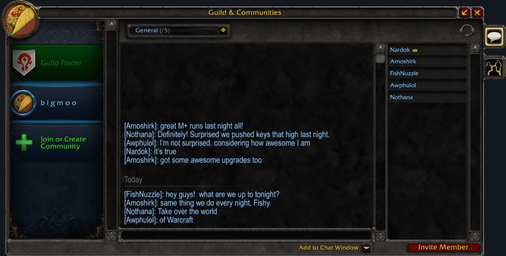 Comunidades de World of Warcraft