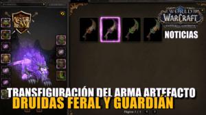 portada arma artefacto apariencias Druidas Feral y Guardián