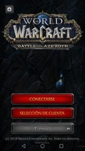 Aplicación móvil WoW Companion
