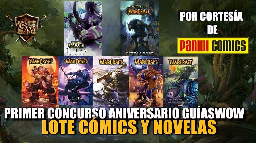 Primer concurso aniversario GuíasWoW - Lote de productos Panini Comics