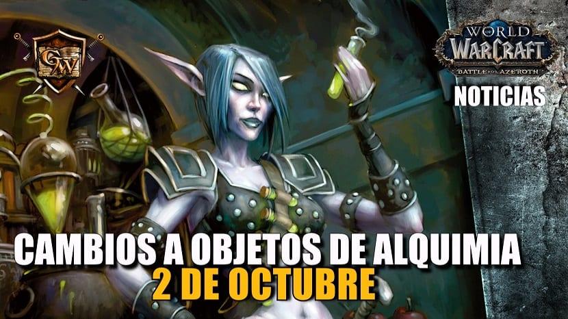 Próximos ajustes en objetos de Alquimia - 2 de octubre