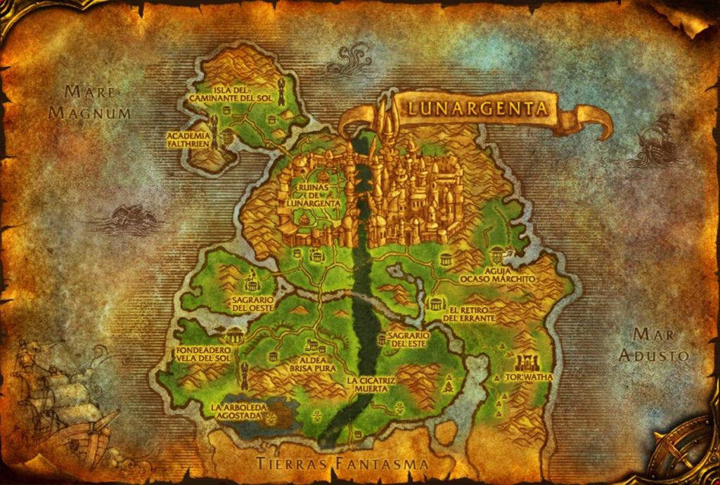 mapa bosque canción eterna