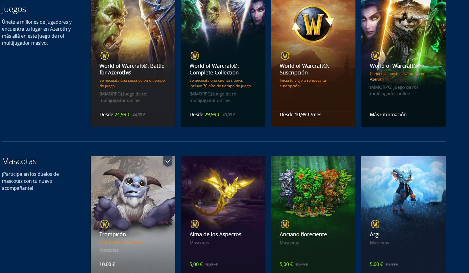Ofertas navideñas en la Tienda digital de Blizzard y nuevo Pack Navideño