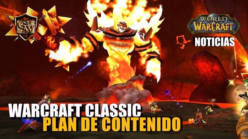 Plan de contenido para Warcraft Classic