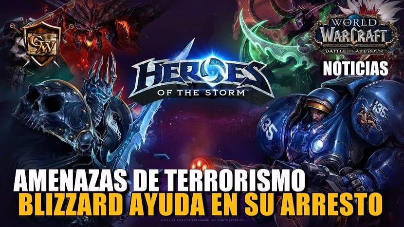 Blizzard ayuda en el arresto de un jugador acusado de amenazas de terrorismo