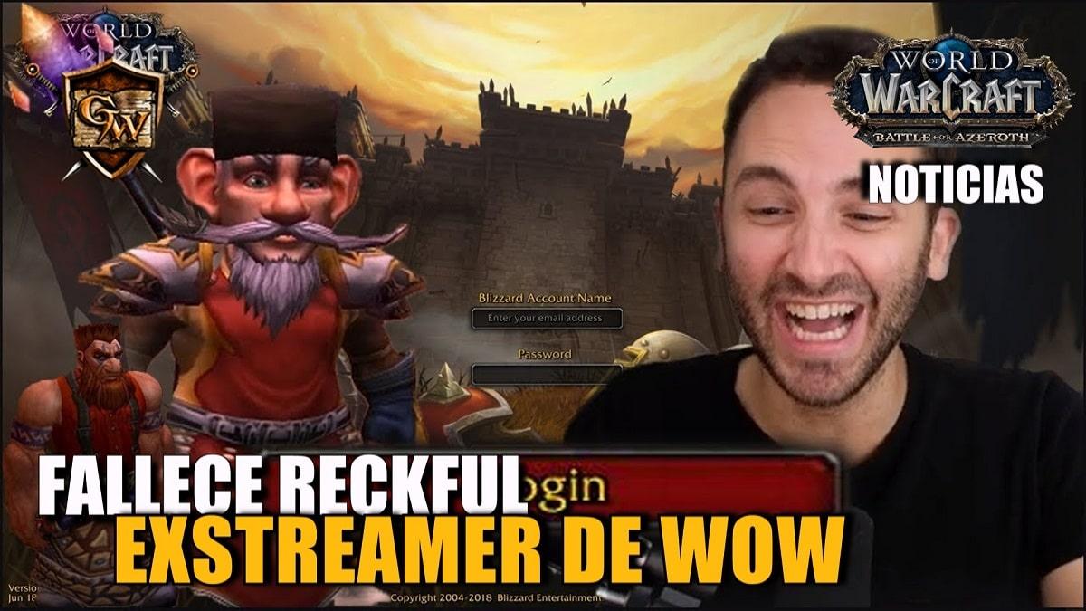 El streamer Reckful, exjugador de WoW, ha fallecido