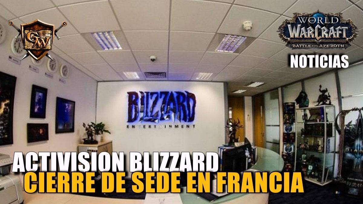 Activision Blizzard cerrará próximamente su sede en Versalles