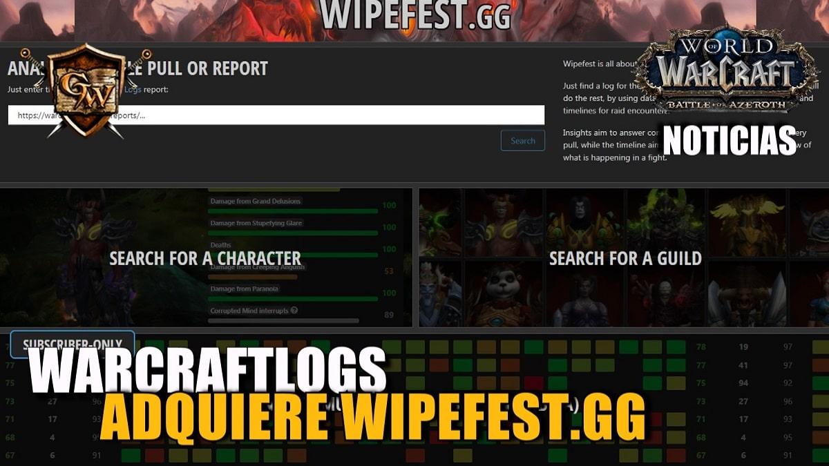 Warcraftlogs adquiere la página Wipefest.gg