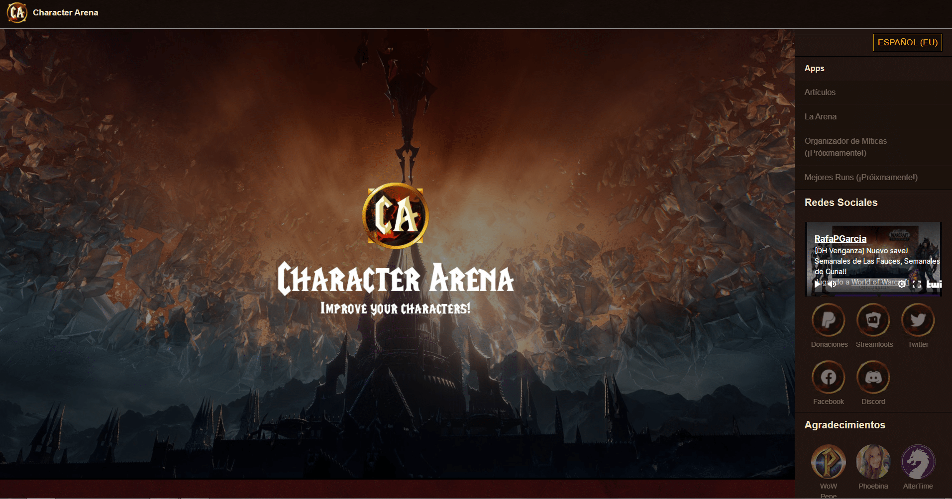 Mejora y optimiza con tops tu personaje con Character Arena