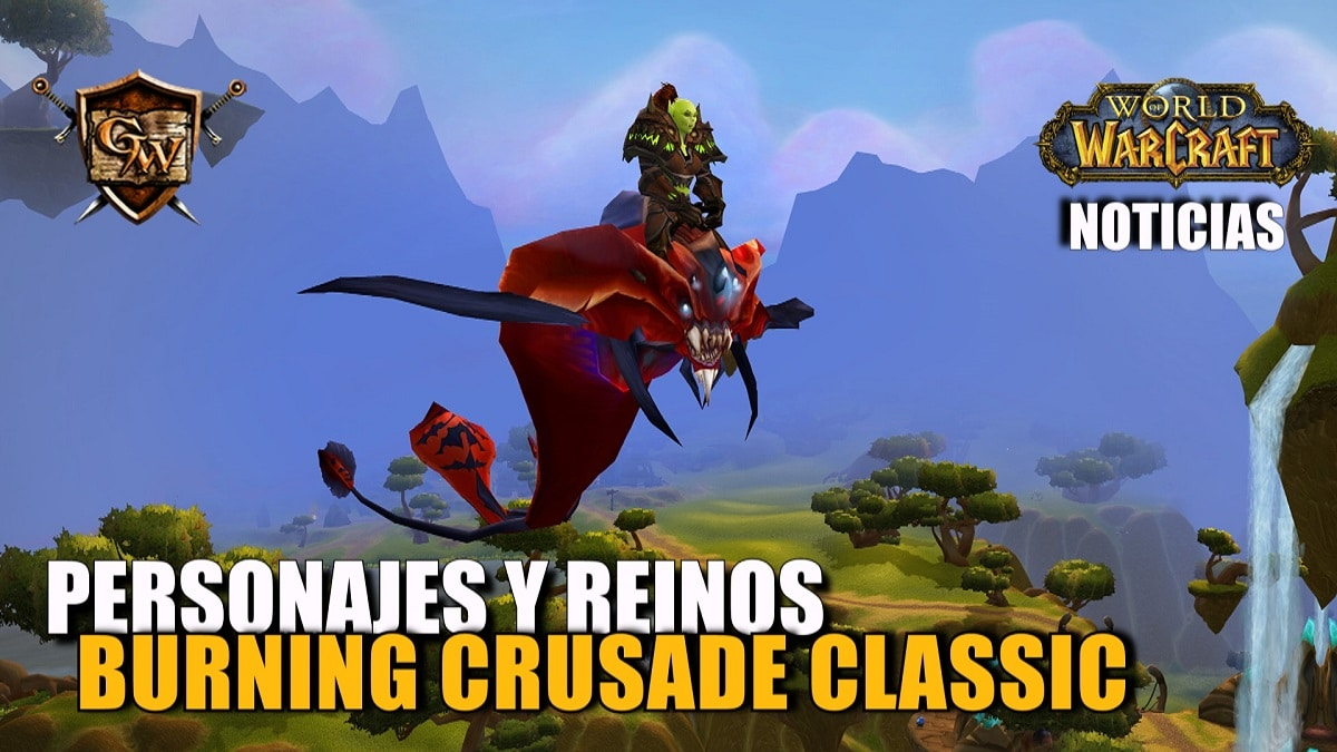 Personajes y reinos de World of Warcraft Classic y Burning Crusade Classic