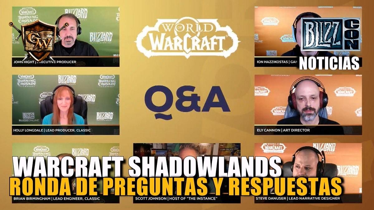 BlizzcOnline 2021 - Ronda de preguntas de World of Warcraft